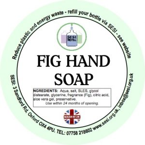 fig hand soap label